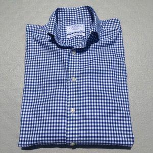 Charles Tyrwhitt Slim Fit Blue Plaid Dress Shirt